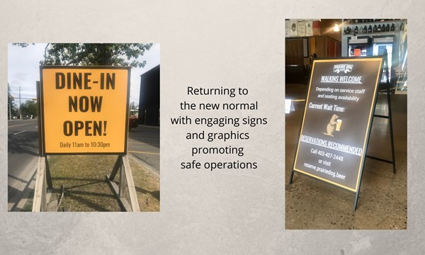 A-Frames & Sidewalk Signs help communicate your safe operating practices